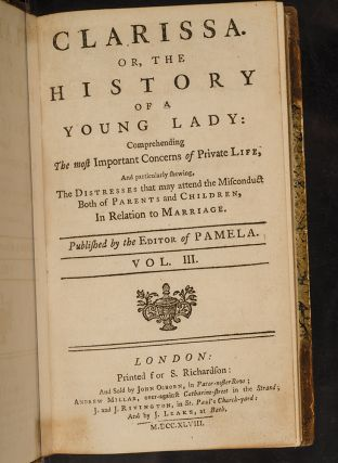 Clarissa. Or, the History of a Young Lady: