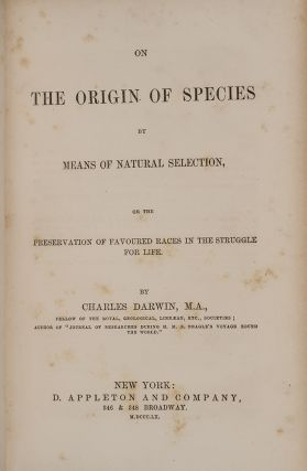 On the Origin of Species by Means of Natural Selection,