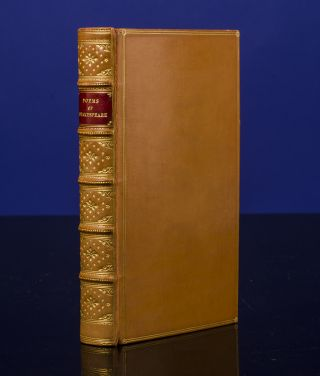 Poems of Shakespeare, The. William SHAKESPEARE, binder MORRELL, publisher PICKERING