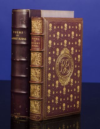 Poems. COSWAY-STYLE JEWELED BINDING, SANGORSKI, binders SUTCLIFFE, Robert BURNS