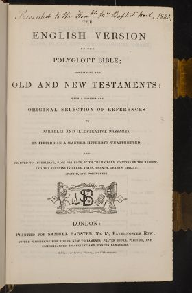 English Version of the Polyglot Bible, The [&] The New Testament of our Lord and Saviour Jesus Christ…