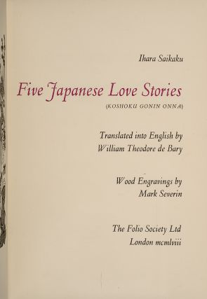 Five Japanese Love Stories
