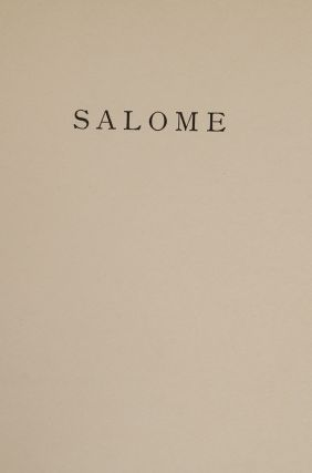 Salomé A Tragedy in One Act.