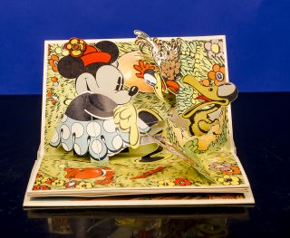 """Pop-up"" Minnie Mouse, The. Walt DISNEY, Studios, POP-UP BOOK"