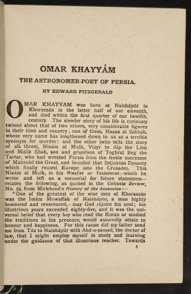 Rubáiyát of Omar Khayyám, The
