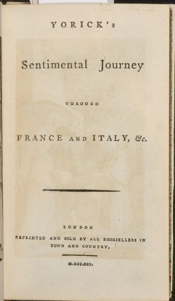 Yorick's Sentimental Journey though France and Italy, &c.