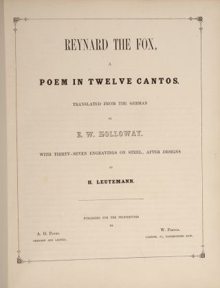 Reynard the Fox, a Poem in Twelve Cantos