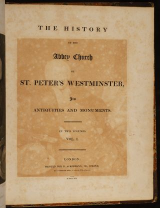 History of the Abbey Church of St. Peter's Westminster
