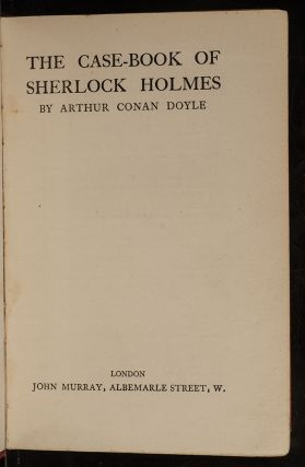 Case-Book of Sherlock Holmes, The