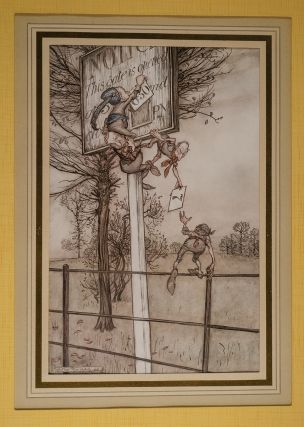 """These tricky fairies sometimes slyly change the board on a ball night"" Arthur RACKHAM, J. M. BARRIE"
