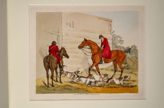 Set of Six Plates on Fox Hunting, A