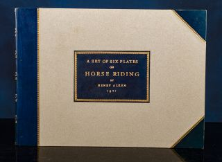 Set of Six Plates on Horse Riding, A