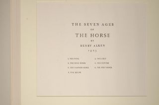 Seven Ages of the Horse, The