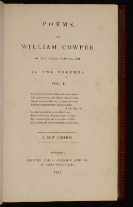 Poems by William Cowper,